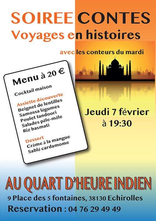 soirée contes Voyages en histoires avec les conteurs du mardi