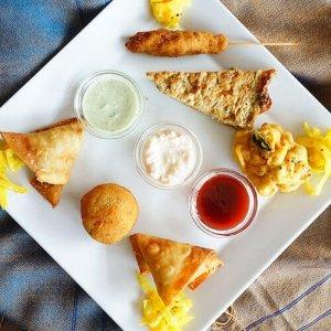 Assiette de dégustation indienne