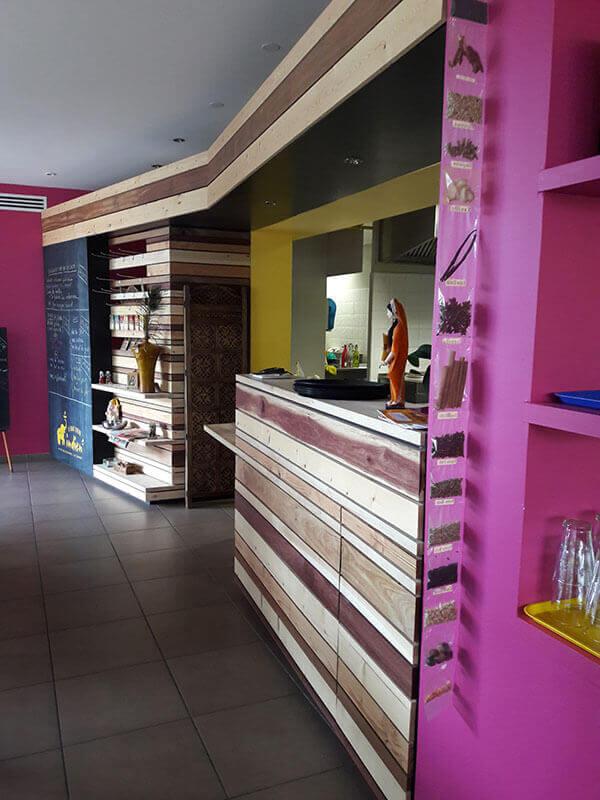 comptoir restaurant Le Quart d'Heure Indien