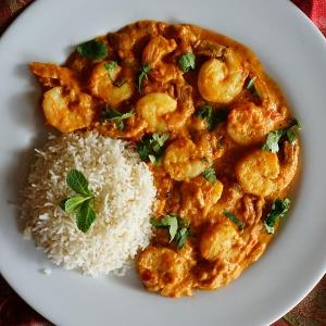 crevettes massala plat indien