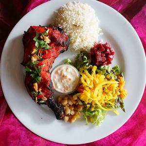 plat indien poulet tandoori grillades