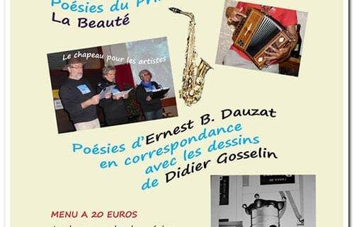 Soirée lecture musicale poésies du printemps des poètes La Beauté
