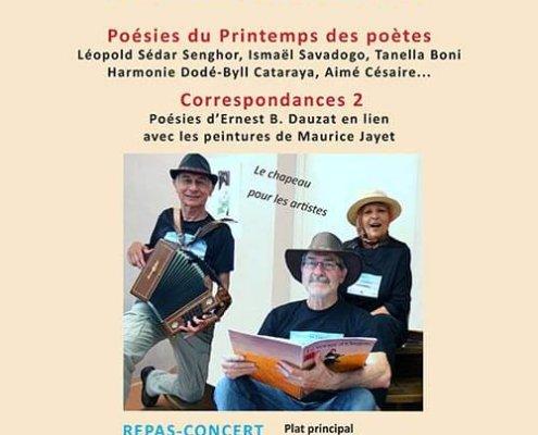 Soirée lectures musicales poésies du printemps des poètes